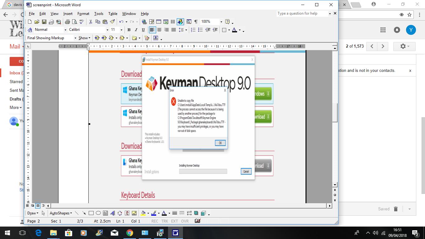Keyman Keyboard 9 0 for Twi - Keyman - SIL Language Software Community