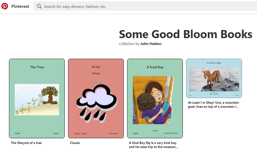 Curation with Pinterest? - Bloom - SIL Language Software