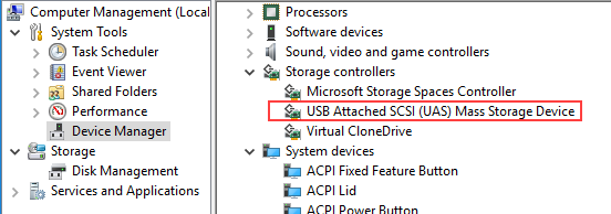 myWorkSafe doesn't reognize external USB drive - myWorkSafe - SIL